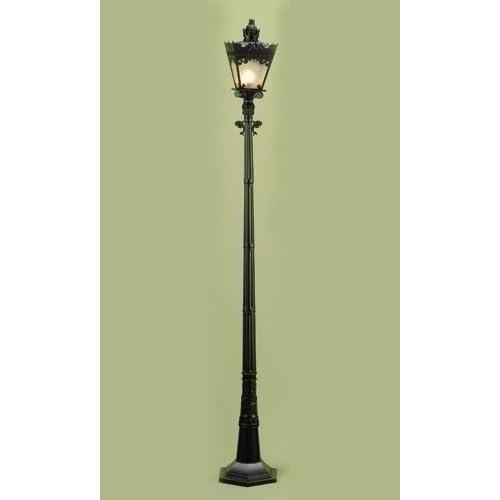 59 victorian lighted black lamp post christmas For59 Victorian Lighted Black Lamp Post Christmas Decoration