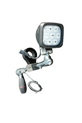 "Bar Clamp Mount Led Spotlight - 7, 3 Watt Leds - 10 Inch Shaft(-White-1"")"