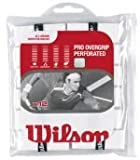 Wilson Sporting Goods Pro Perforated Tennis Racket Grip (Pack of 12), White