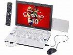 東芝 QosmioF40/87DBL T7100/1.8G/15.4W/512Mx2/160G/S-Multi /LAN/a.b.g/VisHP/Off2007Psl PQF4087DLPBL