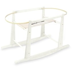 Read About Rocking Wooden Moses Basket Stand- Antique White