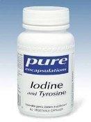 Pure Encapsulations - Iodine And Tyrosine 60 Vcaps