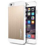 iPhone 6 ケース Spigen [ アルミパネル ] Apple iPhone 4.7 (2014) アルミニウム フィット (国内正規品) (シャンパン・ゴールド 【SGP10945】)