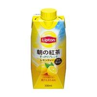 森永乳業 リプトン 朝の紅茶 レモンティー パック330ml×12本入