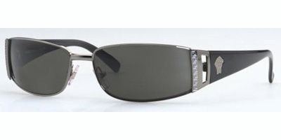 Versace 2021 Gunmetal Green Sunglasses