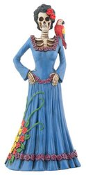 Day of The Dead Dod Blue Lady Figurine
