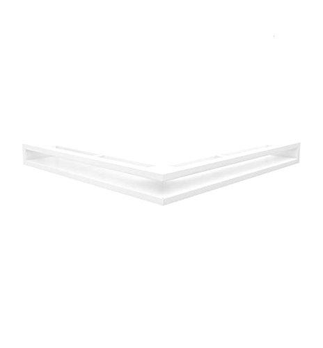 Kratki Lüftungsgitter Kamingitter Eck-Luft weiss 560 mm x 560 mm x 60mm günstig online kaufen