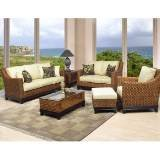 Boca Rattan 95000-6pcs596 Biscayne 6 Piece Seating Set in Royal Oak 95000-6pcs