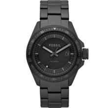 Fossil AM4373 Decker Stainless Steel Watch, Black