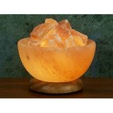 Himalayan Salt Aloha Bay Salt Bowl Lamp W/Stones 6 Diam