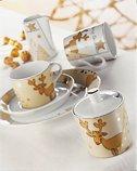 Arzberg Form 1970 2er Set Kaffeetassen 0,21Ltr. Santa's Reindeer