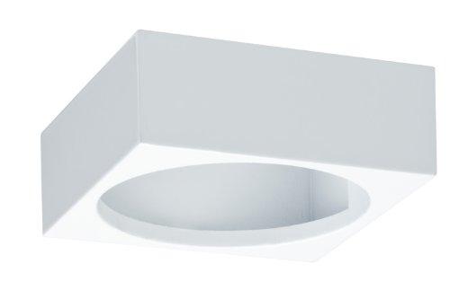 Paulmann 93537 Möbel Aufbauring f.Möbel Einbauleuchte / Einbaulampe IP44Quadro schwenkbar Weiß