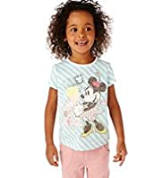 Limited Pure Cotton Minnie Mouse Striped T-Shirt