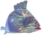 Iridescent White Fish Party Hat - 1