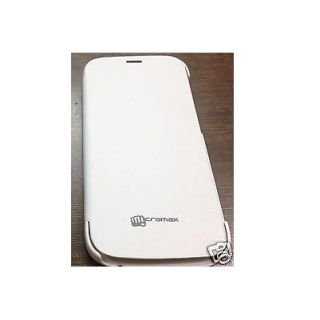 Combo Micromax Canvas Turbo or A250 Flipcover-White + Screen Guard- Matte