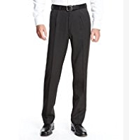 Active Waistband Single Pleat Travel Trousers