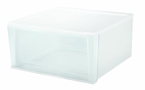 Images for Clear Stacking Drawer - X-Large - Set of 2 (White) (10.2