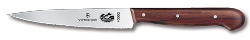Victorinox Swiss Army 4-3/4-Inch Utility Knife, Wavy, Rosewood Handle