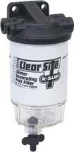 """Moeller Clear Site Water Separating Fuel Filter System for outboard Motors (3/8"""" NPT, Composite)"""