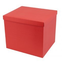 Large Textured Hamper Box - Red 400 x 340 x 340mm