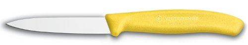 Victorinox Swiss Classic 3-1/4-Inch Paring Knife With Spear Tip, Yellow Handle