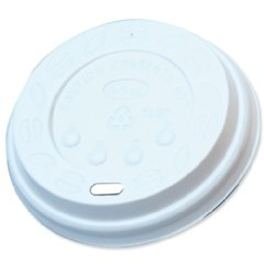 RY CATERPACK 25CL PPR CUP LIDS WHT PK100