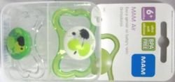 Mam Air Bpa Free Orthodontic Silicone Pacifiers, 2-Pk(Assorted Colors) front-1004062