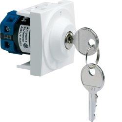 Interrupteur à clé 2 positions 2 modules Hager Systo