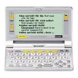 Sharp PW-E410 elektronisches Wörterbuch mit Langenscheidt Taschenwörterbüchern Englisch und Französisch und DUDEN in neuer Rechtschreibung