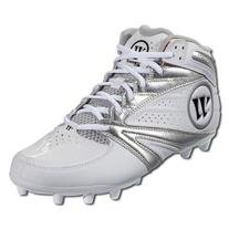 Warrior Second Degree 3.0 LaCrosse Cleat, White/Silver, 7.0 D US