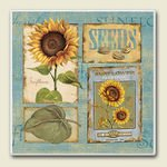 Sunshine Sunflower ~ Artworks Home Accents ~ Absorbastone Tile Trivet