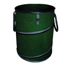 Spring line collapsible trash can container for lawn garden camping and storage - Collapsible garbage can ...