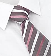 Collezione Pure Silk Textured Striped Tie