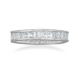 4 mm Baguette CZ Eternity Band
