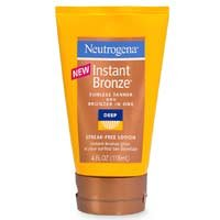Neutrogena Instant Bronze Sunless Tanner and Bronzer-In-One, Deep, 4  Fluid Ounce