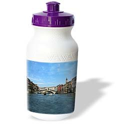 Vacation Spots - The Rialto Bridge Venezia Italy - Water Bottles