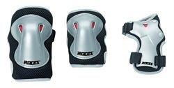 Roces JR Super 301276-001 - Protezioni bambino, pacco da 3, taglia unica, colore: nero