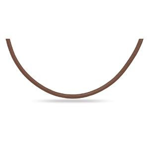 Brown Leather 3mm Necklace 20 inch