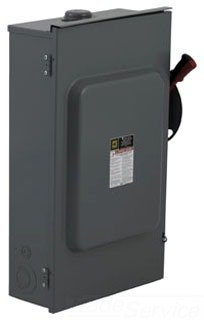 H321Nrb Square D 3 Phase 30 Amp Fusible Disconnect Heavy Duty 3P 250V Safety Switch, Weather Proof Nema 3R