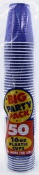 Amscan Big Party Pack 50 Count Plastic Cups, 16-Ounce, New Purple