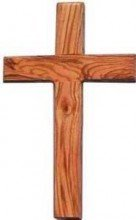 Wall Cross-Olive Wood-Plain-8 Inches….