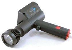 Larsonelectronics Led Uv Handheld Spotlight - 3 Watts - Pistol Grip W/ 16' Coil Cord - Uv405 - 9-32Vdc