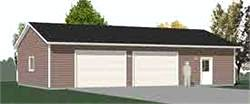 Garage Plans Oversized Two Car Garage With Shop Space