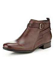 Footglove™ Leather Strap Ankle Boots