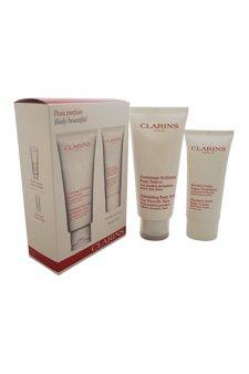 Clarins Body Beautiful Confezione Regalo 200ml Scrub Esfoliante + 100ml Moisture Rich Lozione Corpo