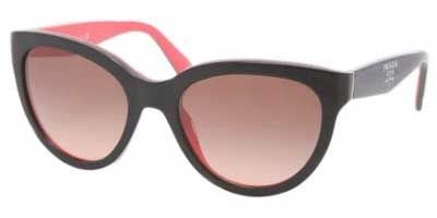 prada Prada PR05PS Sunglasses-KA3/0A5 Black/Gray/Coral (Brown Gradient Lens)-55mm