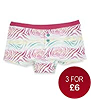 Pure Cotton Rose Swirl Print Boxers