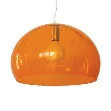 Kartell Fly Ceiling Suspension Light Transparent Orange       Customer reviews and more information