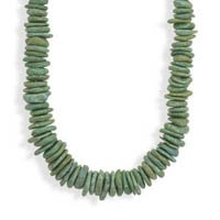 Graduated Green Stone Fashion Necklace