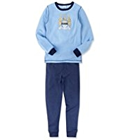 Manchester City Football Club Thermal Top & Trousers Set